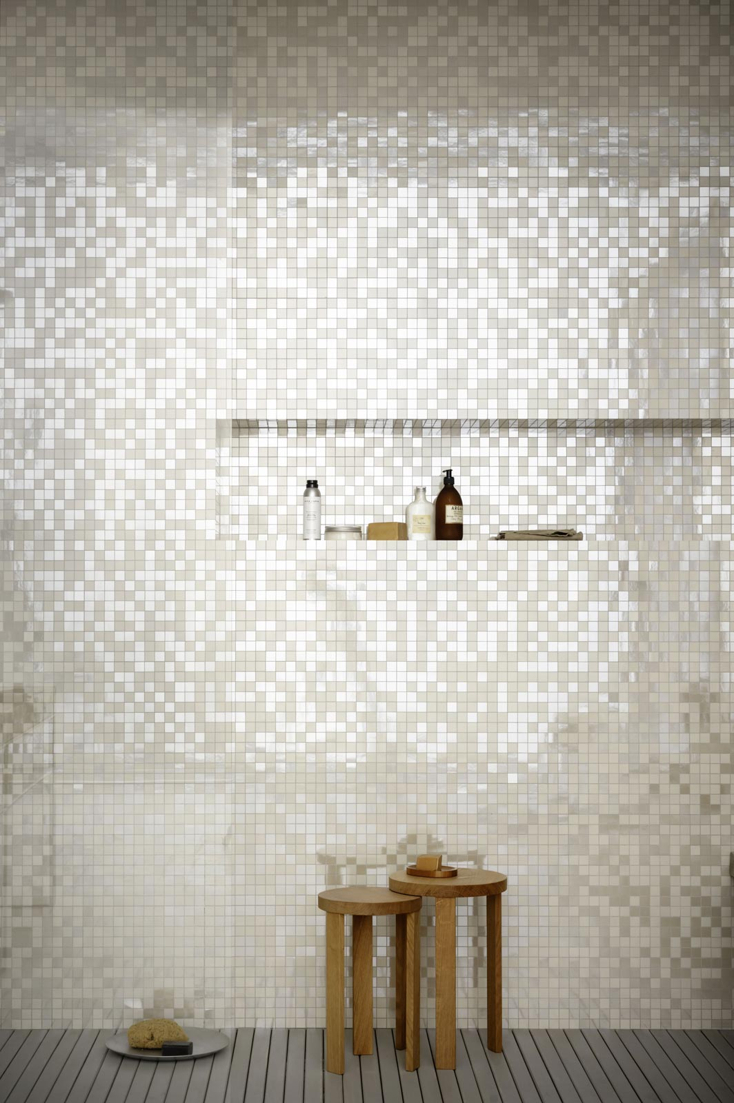 Piastrelle a mosaico per bagno e altri ambienti marazzi - Mosaico grigio bagno ...
