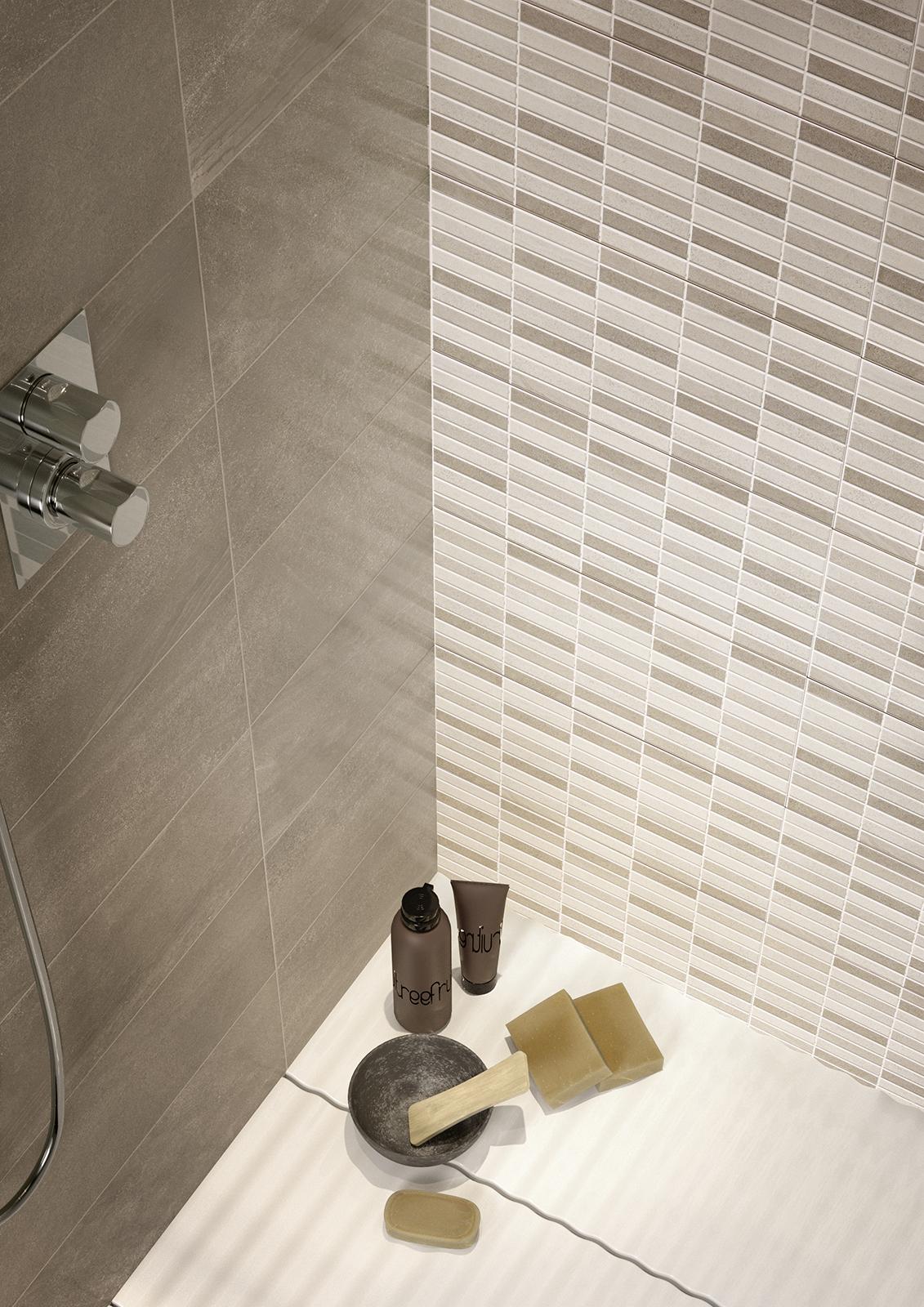 Interiors rivestimento bagno e cucina marazzi - Piastrelle mosaico bagno ...