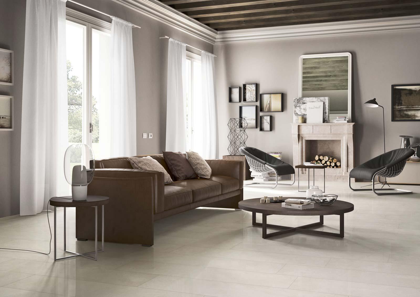 Piastrelle per salotto ispirazione per l 39 arredo marazzi for Salotto elegante