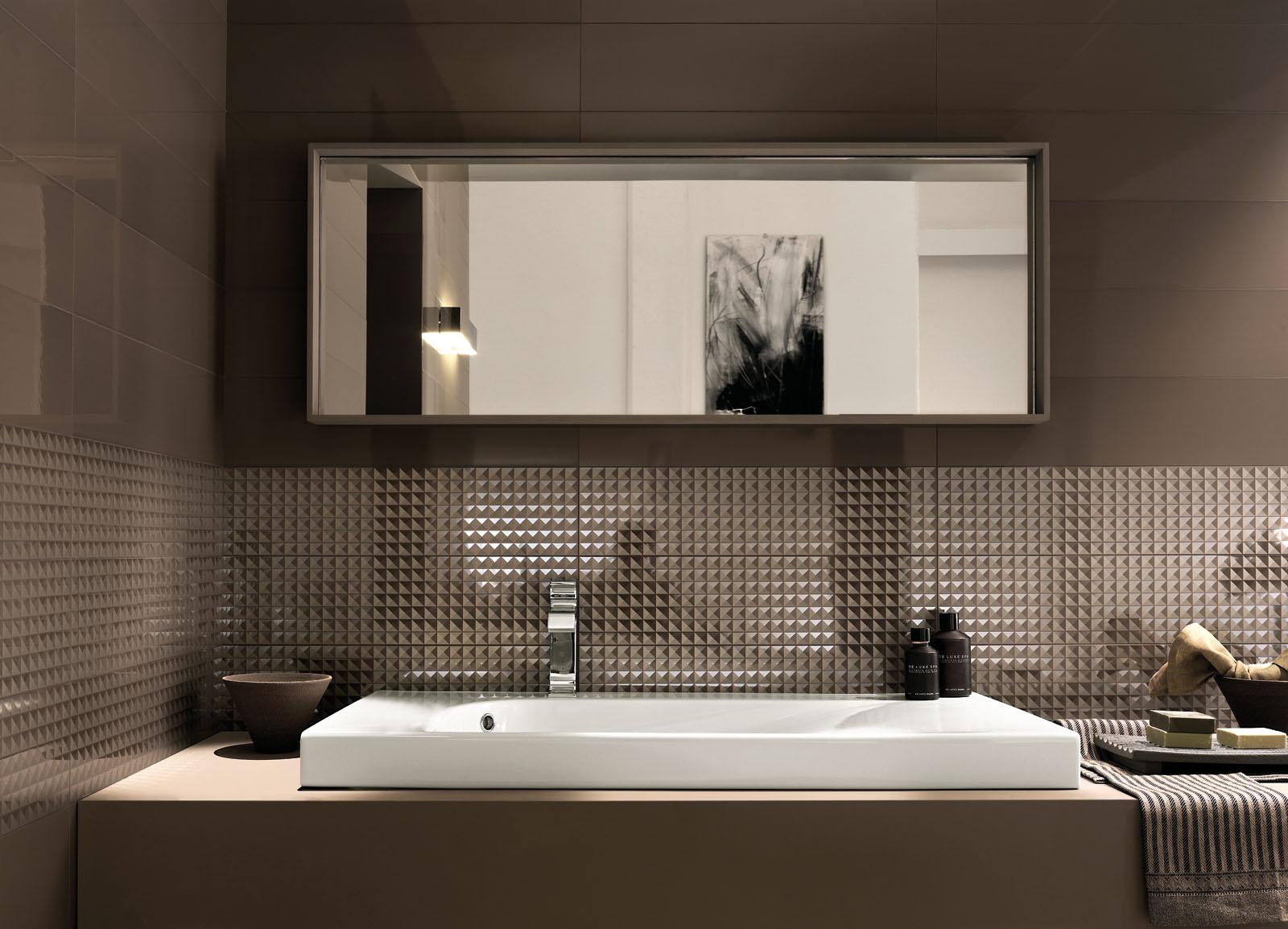 Piastrelle bagno marrone design casa creativa e mobili ispiratori