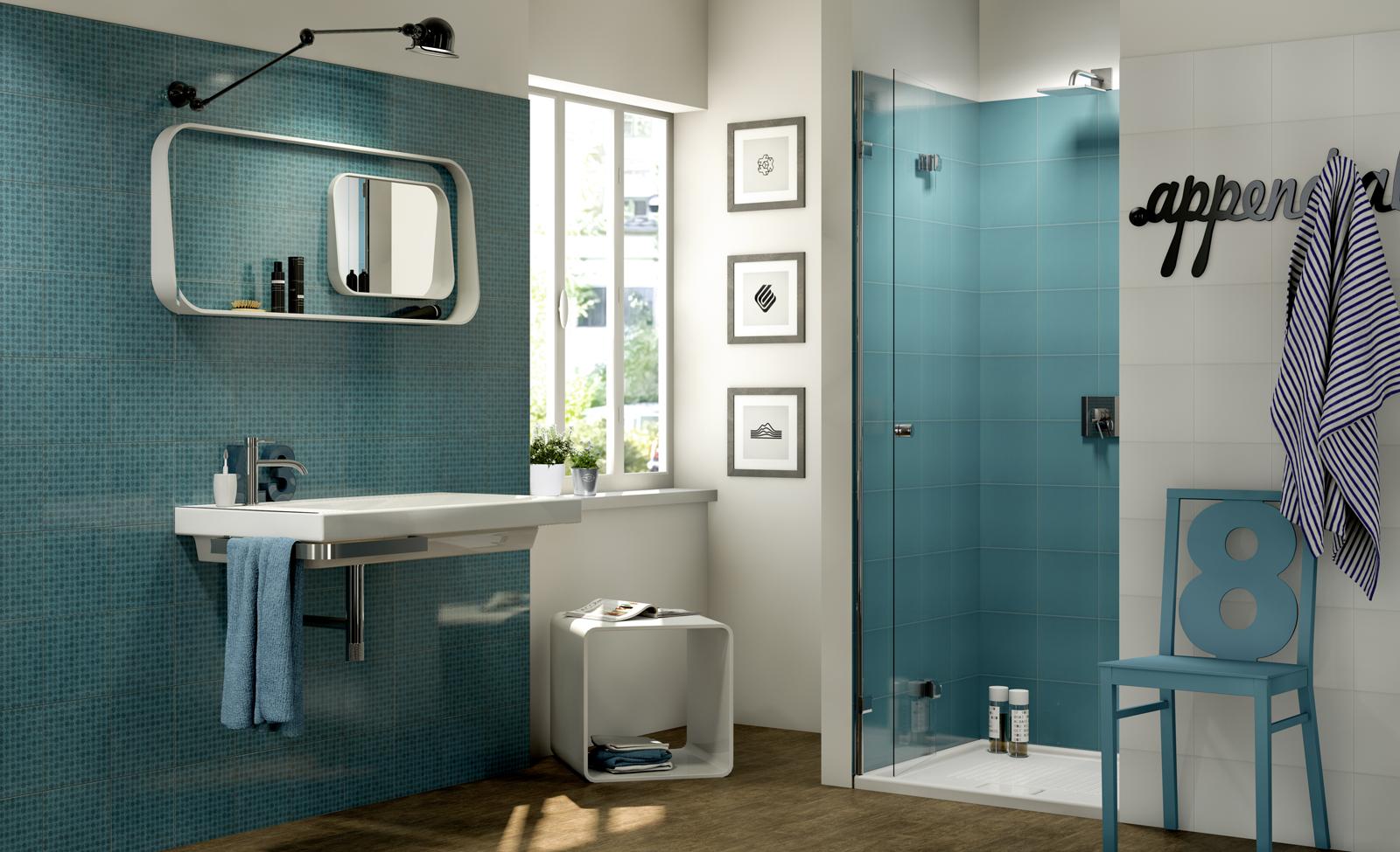 Rivestimento Bagno Verde Mela : Piastrelle verdi per bagno interno di casa smepool