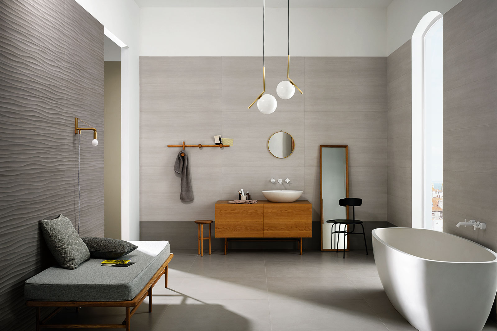 mattonelle per bagno ceramica e gres porcellanato marazzi. Black Bedroom Furniture Sets. Home Design Ideas