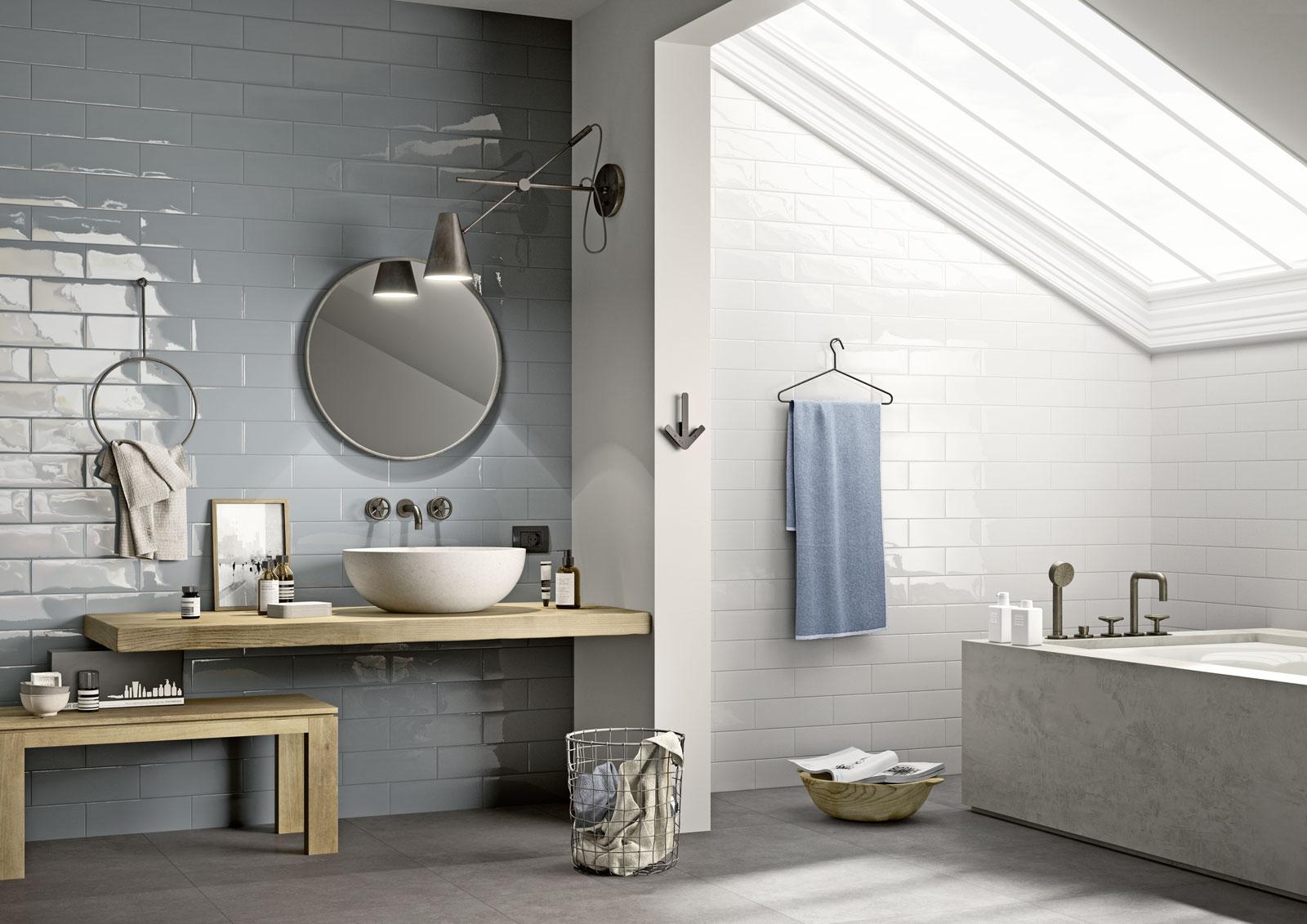 Mattonelle per bagno ceramica e gres porcellanato marazzi for Composizione piastrelle bagno