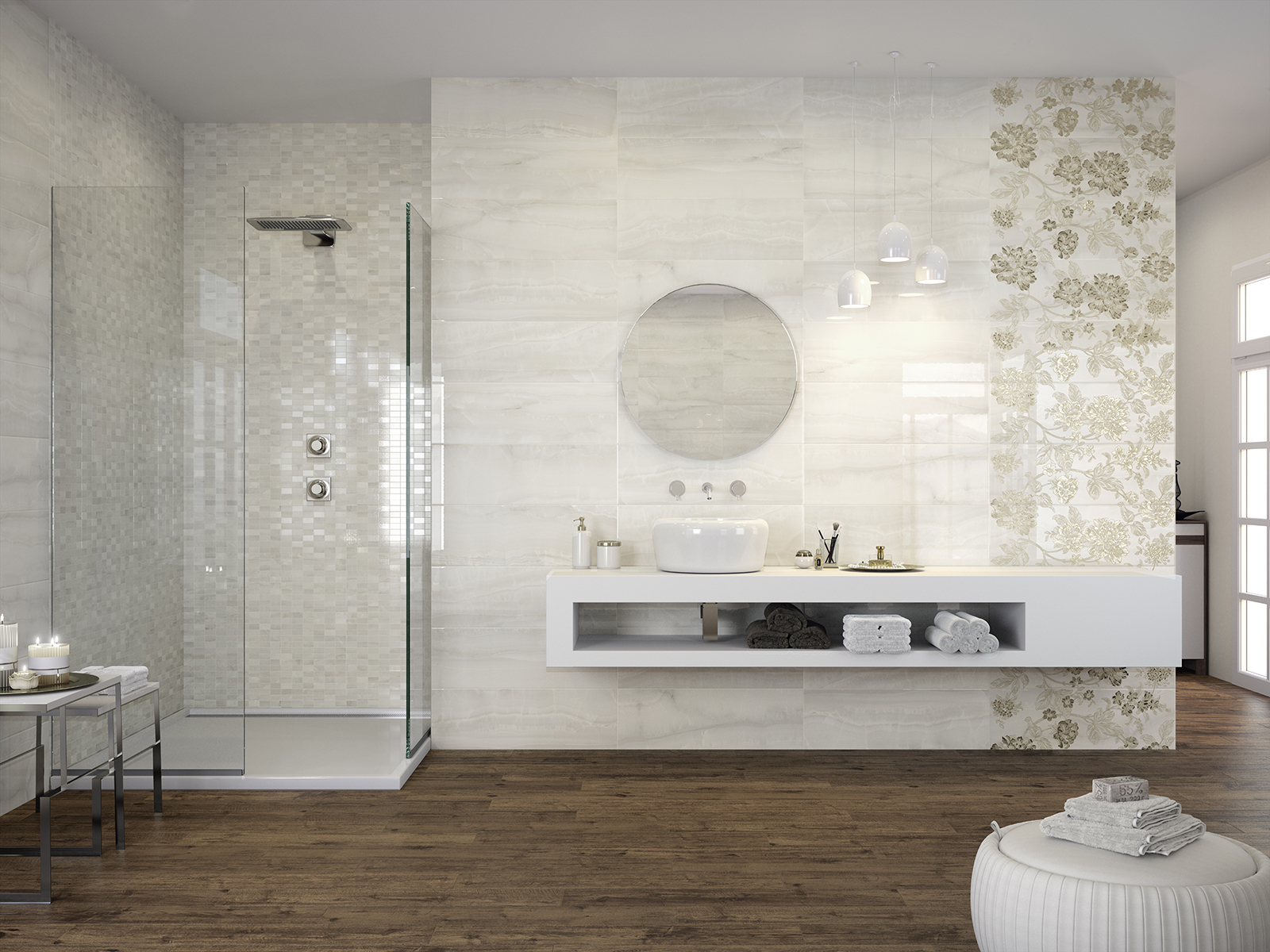 Piastrelle bagno marazzi effetto marmo: rivestimenti e pavimenti