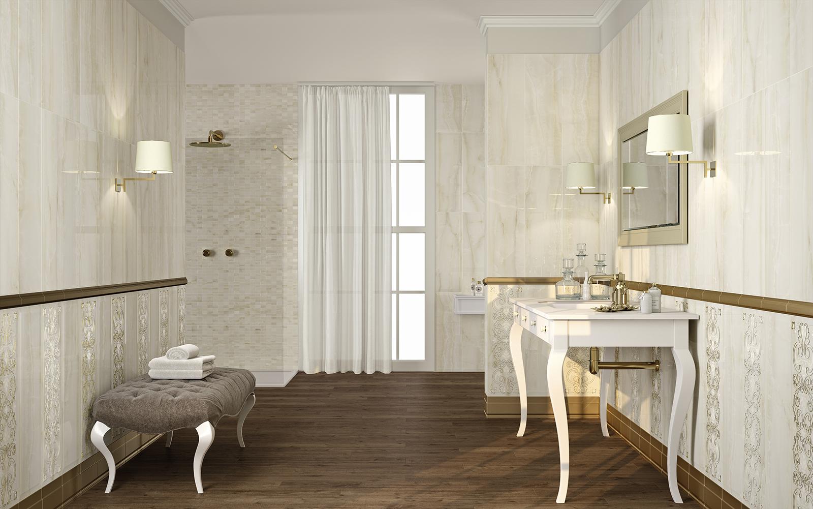 Onix ceramica per bagno effetto marmo marazzi - Piastrelle effetto mattone ...