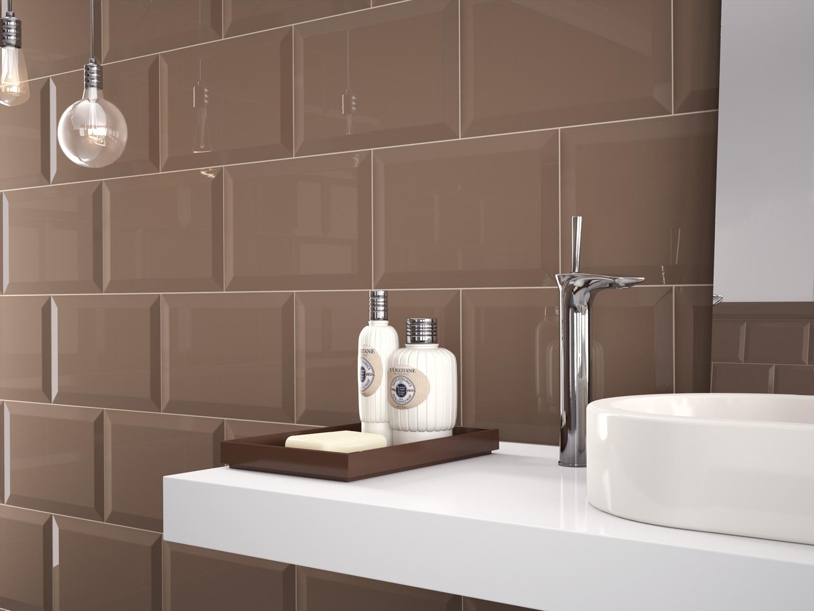 Piastrelle bagno marrone top stanza da bagno moderna con