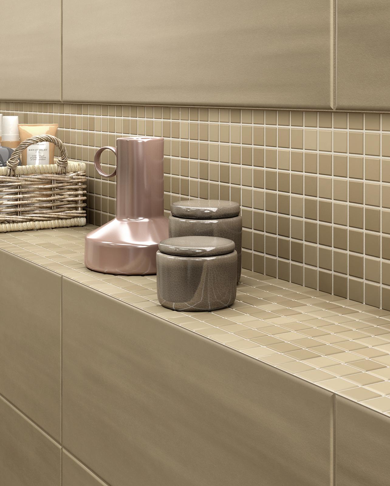 Piastrelle a mosaico per bagno e altri ambienti marazzi - Piastrelle cucina rosse ...