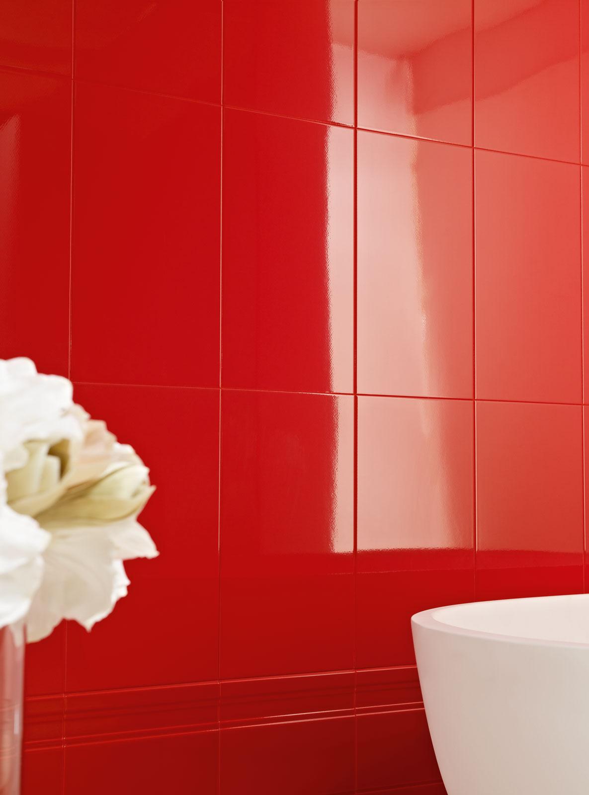 Palace marazzi - Piastrelle rosse lucide ...
