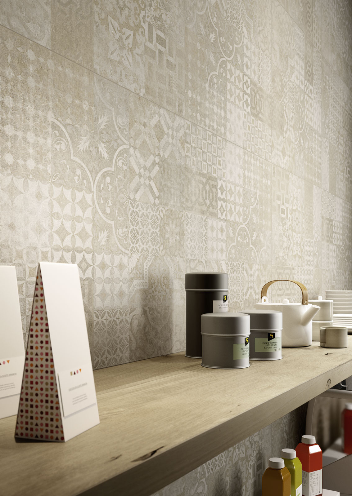 Plaster gres porcellanato effetto cemento marazzi - Rivestimenti cucina marazzi ...