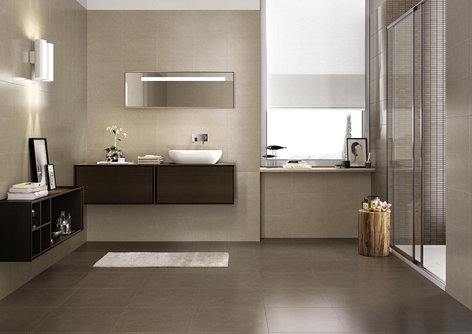 Progress gres porcellanato effetto cemento marazzi - Nice arredo bagno ...