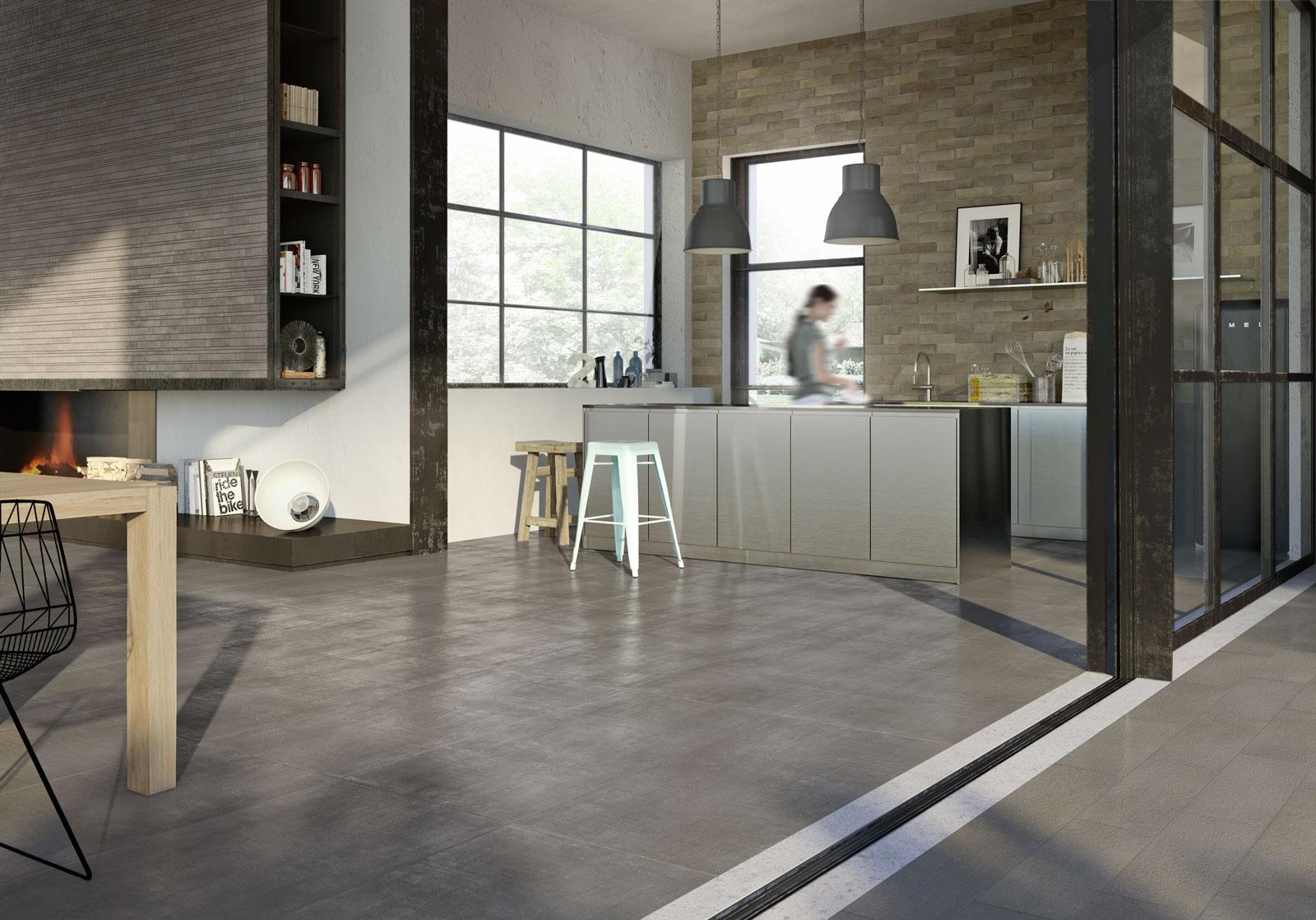 Pavimenti per interni ed esterni le collezioni marazzi for Interni case americane