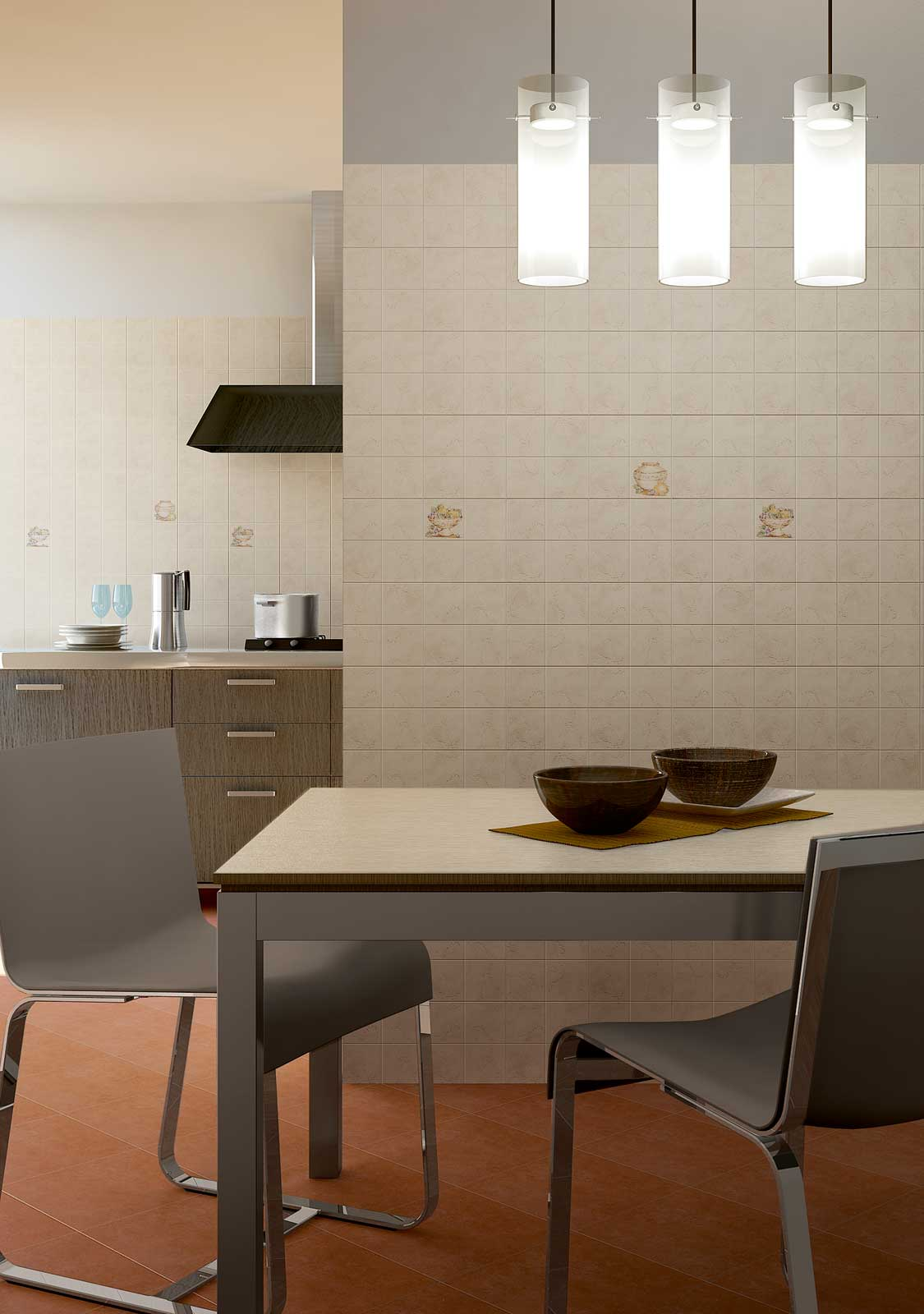 Spezie marazzi for Piastrelle decorate bagno