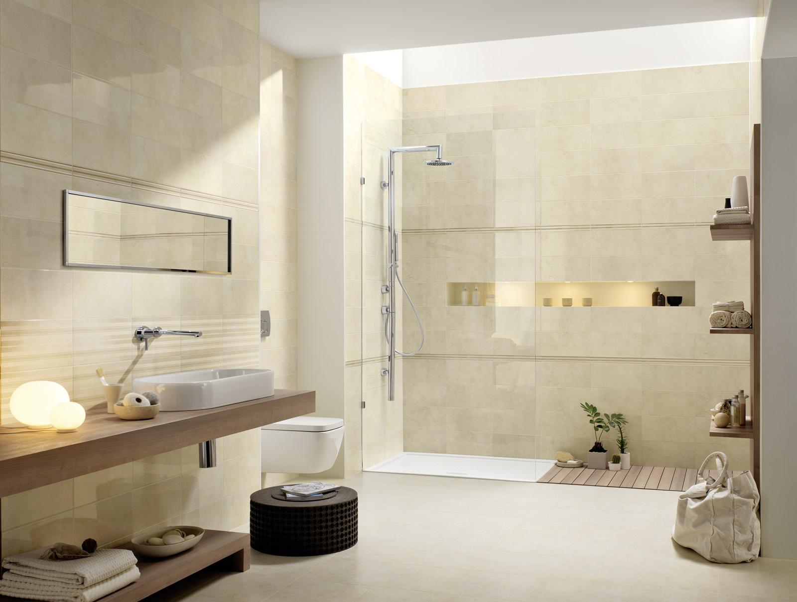 Suite ceramica lucida effetto marmo marazzi - Ceramiche per bagno marazzi ...