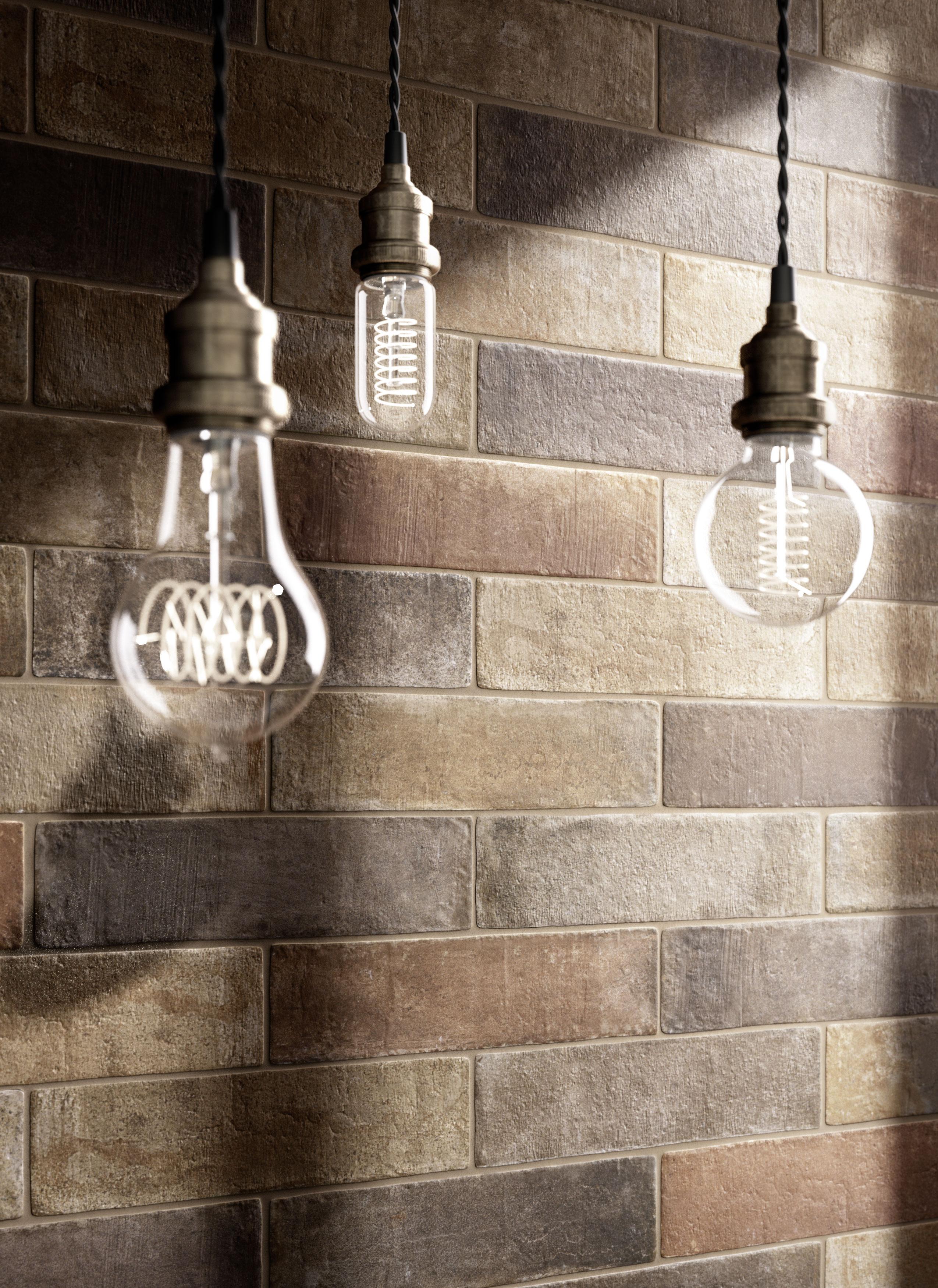Gres porcellanato effetto cotto e cemento marazzi - Piastrelle effetto mattone ...