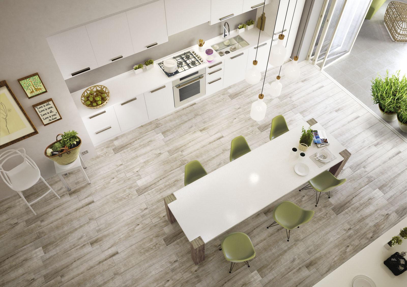 Treverkmood gres porcellanato effetto legno marazzi for Pavimenti per cucina e soggiorno