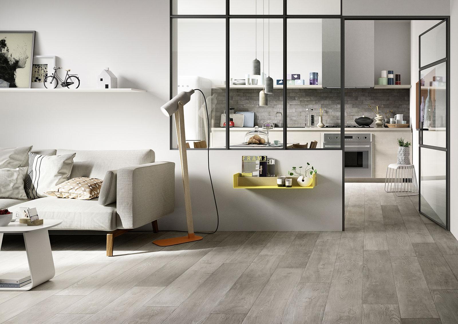 Piastrelle cucina idee in ceramica e gres marazzi for Pavimenti per cucina e soggiorno