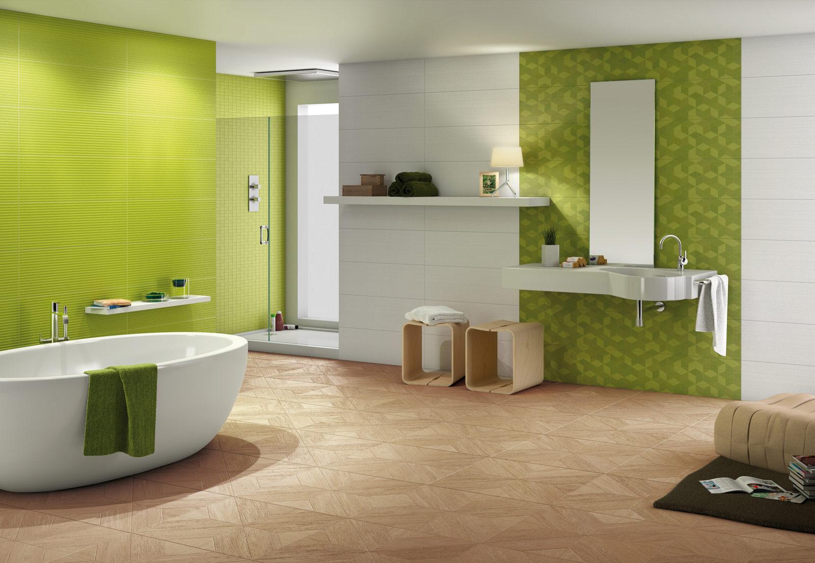 Verde marazzi - Bagno colorato piastrelle ...