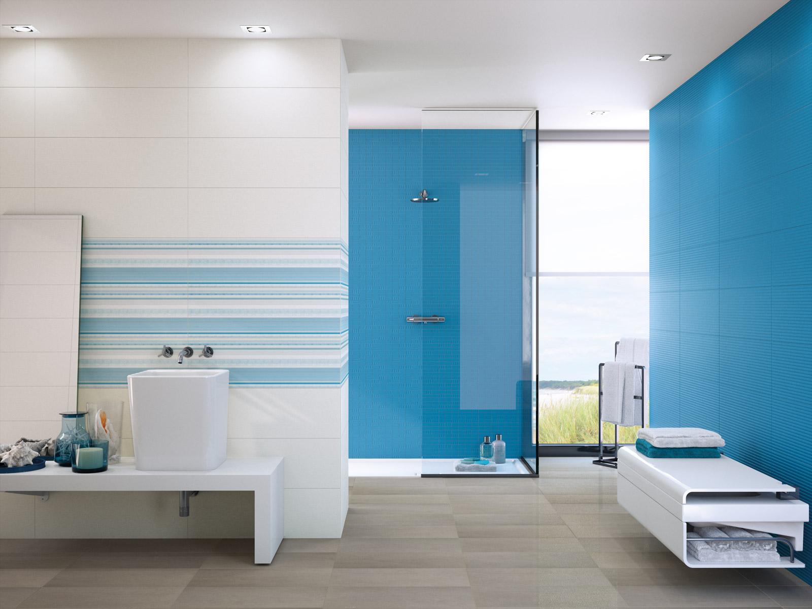 Bagno Moderno Colorato.La Bagno Moderno Con Arredamento Colorato Photo