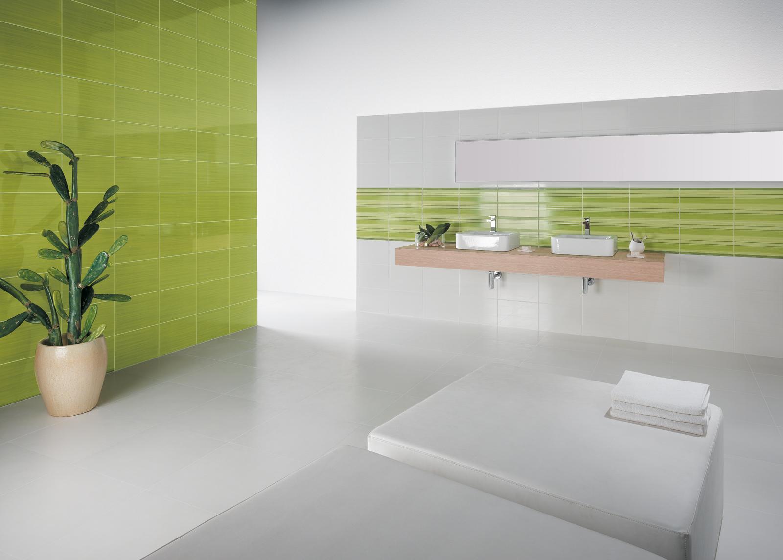 Vertical rivestimenti residenziali marazzi - Piastrelle bagno verdi ...