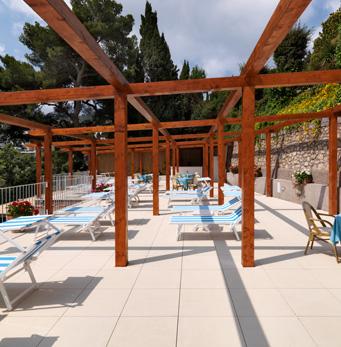 Solarium Hotel Villa Brunella a Capri